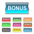 Bonus buttons, icons set, vector — Stock Vector