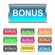 Stock Vector: Bonus buttons, icons set, vector