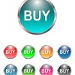 Buy buttons, icons set, vector — Imagen vectorial