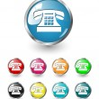 Royalty-Free Stock  : Telephone icon vector set