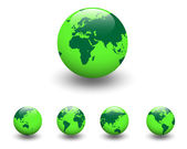 Green world, earth globe. — Stock Vector