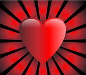 Ilustración vectorial de corazón de amor — Vector de stock