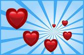 Illustrazione vettoriale di sfondo l'amore — Vettoriale Stock