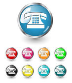 Telephone icon vector set — Stock Vector