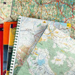 Stock Photo: Lot of maps