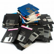 Stock Photo: Pile of floppy discs