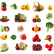 Set of fresh vegetables and fruits - Stock Photo
