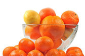 Oranges tangerines and lemon — Stock Photo