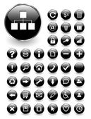Web icons, buttons set — Stock Vector