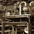 Pipes, tubes and machinery — Stock Photo