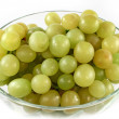 Green grapes in glass bowl isolated — Stock Photo #2016603