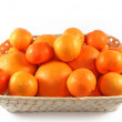 Fresh isolated tangerines and oranges — Stock Photo #2017526