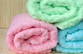 Rolled towels — Stock Photo