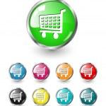 vetor de ícone do carrinho de compras definido — Vetorial Stock