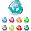 Shopping cart icon vector set - Imagen vectorial