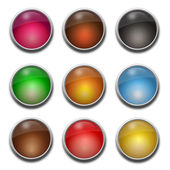 Blank, glass web buttons — Stock Vector
