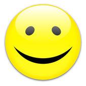 Smile button — Stock Vector