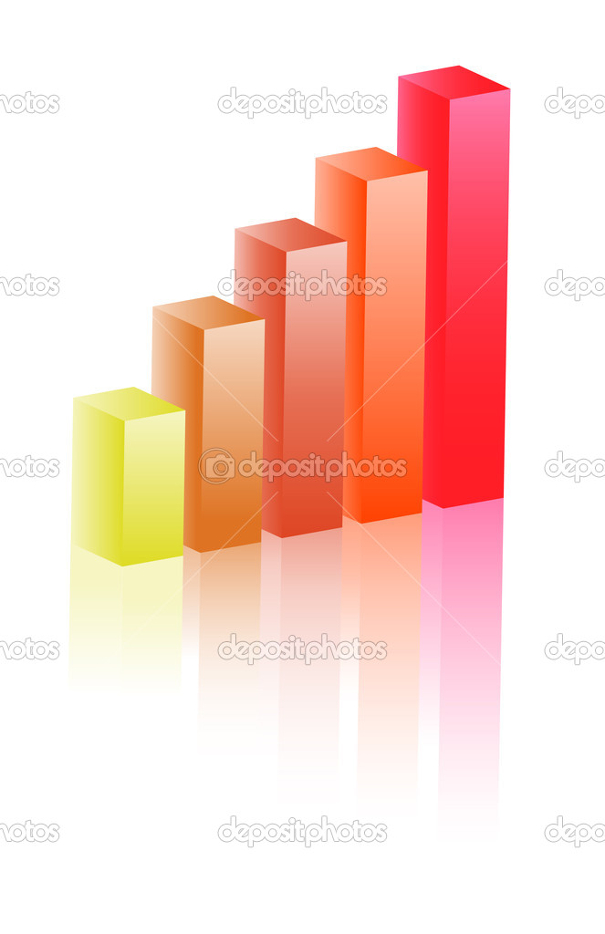 3d growth diagram - Vector illustration.  Stock Vector #2019136
