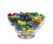 Candys in a glass bowl — Stock Photo