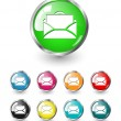 Letter icon vector set — Stock Vector