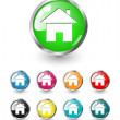 Home icon vector set - Stock Vector