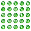 Stock Vector: Set of icons, buttons