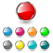 Glossy blank web buttons — Stock Vector