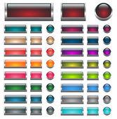 Aqua Web buttons set — Stock Vector