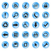 Set of icons, buttons — 图库矢量图片