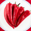 Red hot chili peppers isolated — Stock Photo #2034775