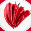 Royalty-Free Stock Photo: Red hot chili peppers isolated