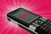 Love sms — Stockfoto