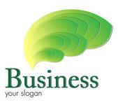 Logo green flames — Wektor stockowy