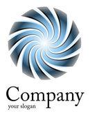 Logo blue spiral — Stock Vector