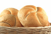 Bread rolls isolated — Stock Photo