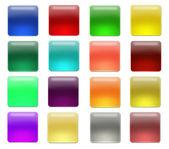 Blanc aqua buttons — Stock Photo