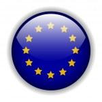 Europa Flagge Button, Vektor — Stockvektor