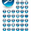 Web icons, buttons set - Imagen vectorial