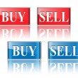 Buy, sell icons, buttons - Stock Vector