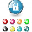 Security icons vector set — Stock Vector #2056407