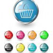 Shopping, buy icons, vector set — Imagen vectorial