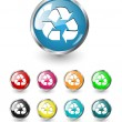 Recycle icons, vector set — Imagen vectorial