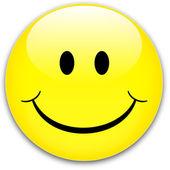 Botón de sonrisa — Vector de stock