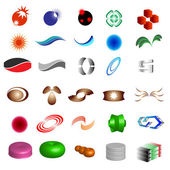Logo & design elements 30 pieces — Stockvector