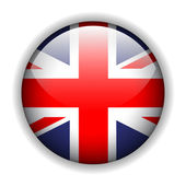 England UK flag button, vector — Stock Vector