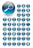 ウェブのアイコン、ボタン セット — ストックベクタ