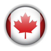Canada flag button, vector — Stock Vector