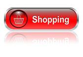 Shopping cart icon, button — Stock Vector
