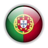 Portugal flag button, vector — Stock Vector