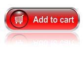 Alışveriş sepeti simgesini, düğme — Stok Vektör